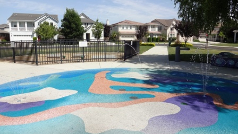 Rainbows End Park - Water Play Feature